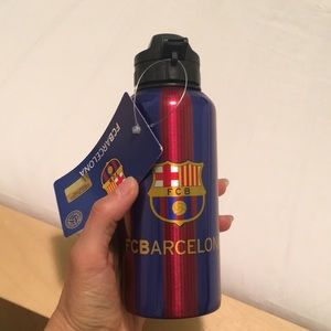 FC Barcelona aluminum drink bottle OFFICIAL NWT